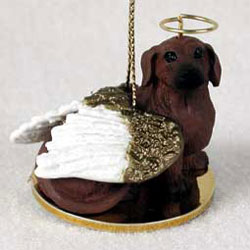 Dachshund Christmas Ornament Angel