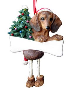 Dachshund Christmas Tree Ornament - Personalize