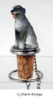Irish Wolfhound Bottle Stopper