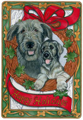 Irish Wolfhound Christmas Cards