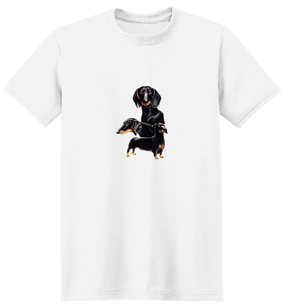 Black Dachshund T-Shirt - Best Friends