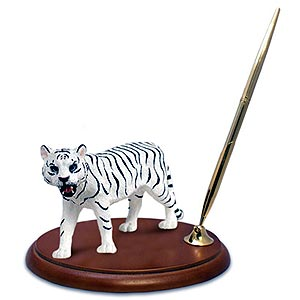 Tiger Pen Holder (White)