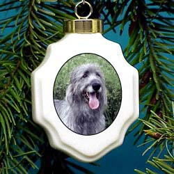 Irish Wolfhound Christmas Ornament Porcelain