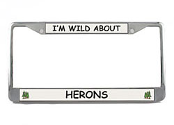 Heron License Plate Frame