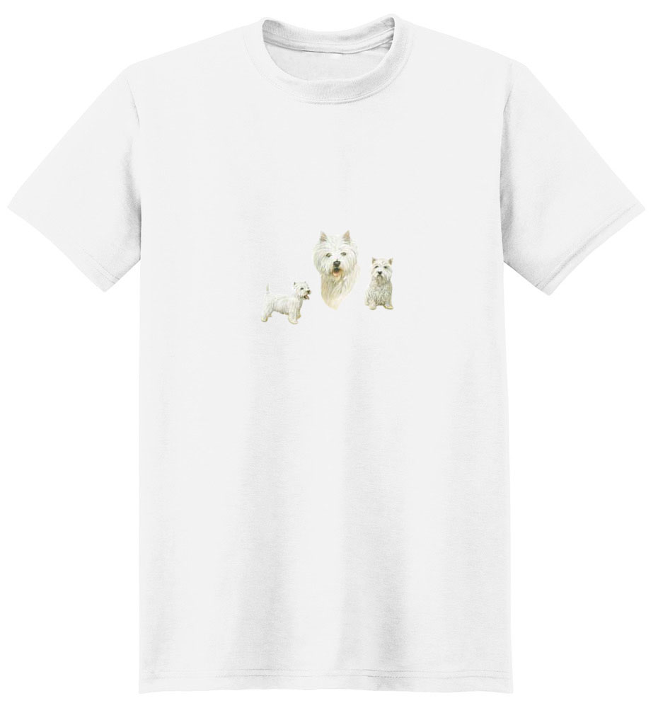 West Highland Terrier T-Shirt - Trio of Three