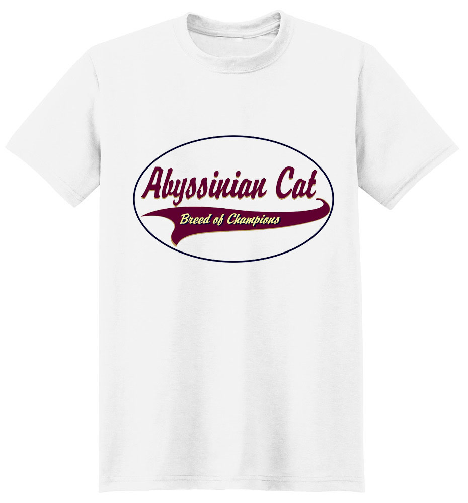 Abyssinian Cat T-Shirt - Breed of Champions