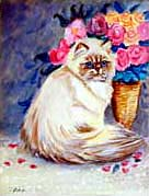 Himalayan Cat Garden Flag