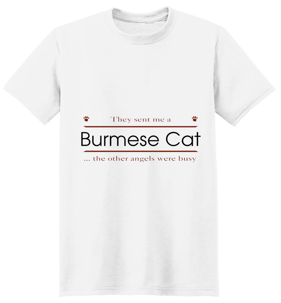 Burmese Cat T-Shirt - Other Angels