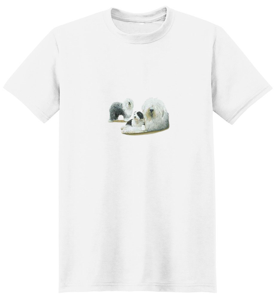 Old English Sheepdog T-Shirt - Various Poses