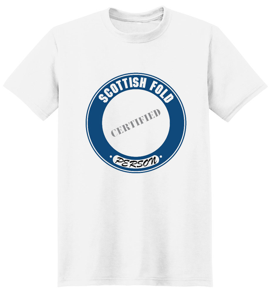 Scottish Fold Cat T-Shirt - Certified Person