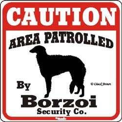 Borzoi Caution Sign