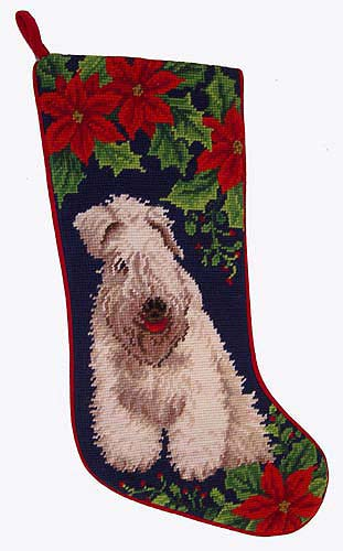 Wheaten Terrier Christmas Stocking