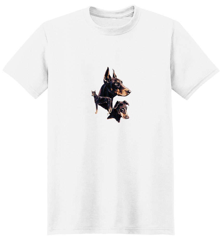 Red Doberman Pinscher T-Shirt - Best Friends