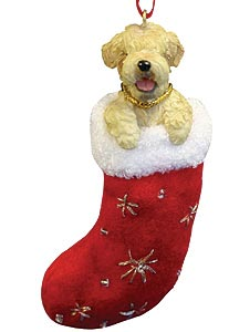Wheaten Terrier Christmas Stocking Ornament