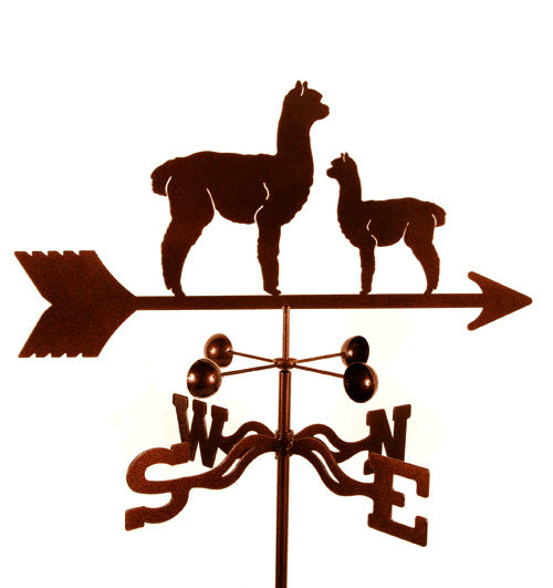 Alpaca Weathervane with Baby
