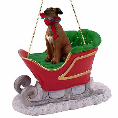 Italian Greyhound Sleigh Ride Christmas Ornament
