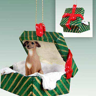 Italian Greyhound Gift Box Christmas Ornament