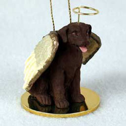 Chocolate Lab Christmas Ornament Angel