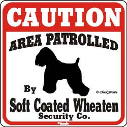 Wheaten Terrier Caution Sign
