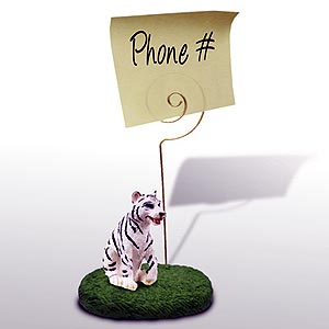 Tiger Note Holder (White)