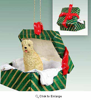 Wheaten Terrier Gift Box Christmas Ornament