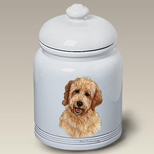Goldendoodle Treat Jar