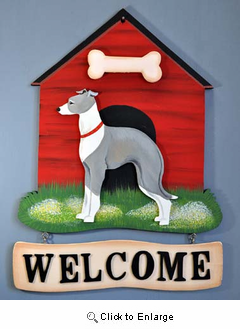 Italian Greyhound Welcome Sign
