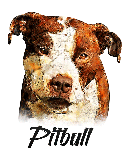 Pit Bull Terrier Non Cropped T-Shirt - Vivid Colors