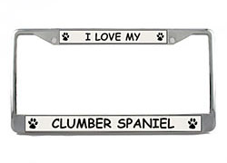Clumber Spaniel License Plate Frame