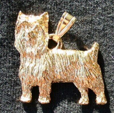 Yorki 24K Gold Plated Pendant with Puppy Cut