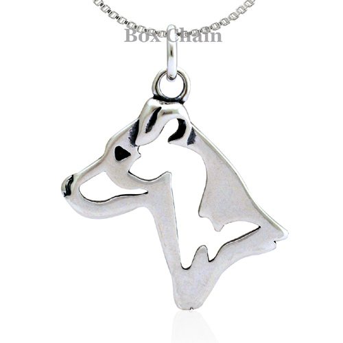 Sterling Silver Jack Russell Terrier Smooth Coat Necklace