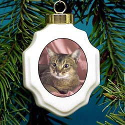 Abyssinian Christmas Ornament Porcelain