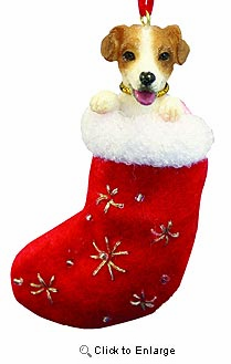 Jack Russell Terrier Christmas Stocking Ornament