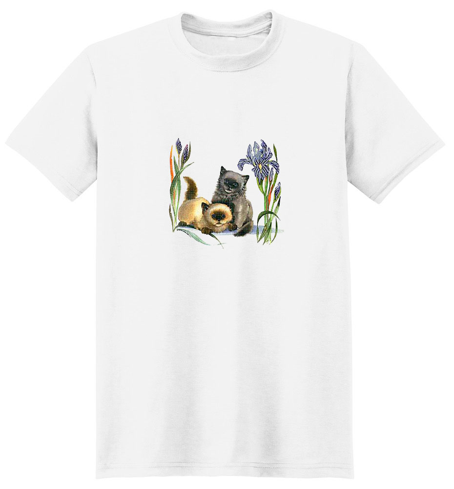 Kitten T- Shirt with Flowers