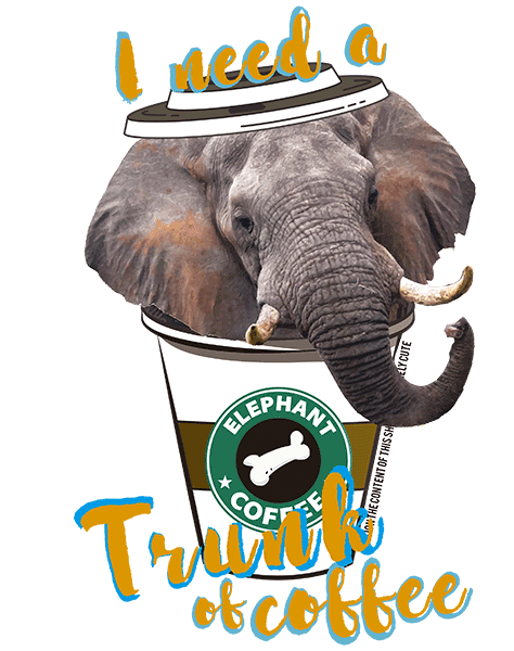 Elephant T Shirt - Coffee Mug