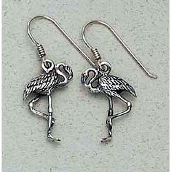 Flamingo Earrings Sterling Silver