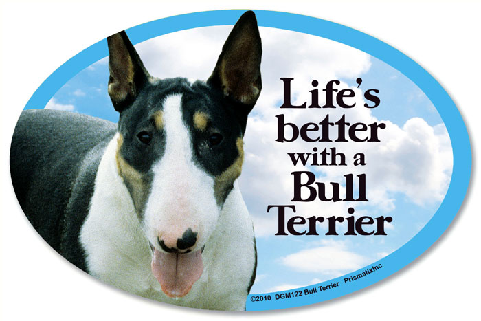 Bull Terrier Car Magnet - Life's Better