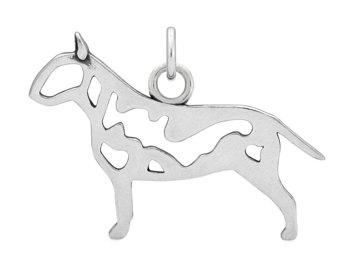 Sterling Silver Bull Terrier Body Necklace
