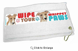 Whippet Paw Wipe Towel