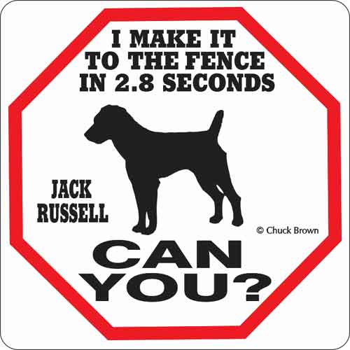 Jack Russell 2.8 Seconds Sign