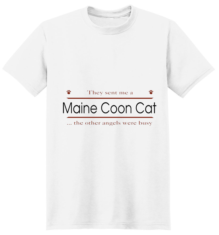 Maine Coon Cat T-Shirt - Other Angels