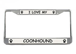 Coonhound License Plate Frame