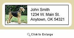 Airedale Terrier Address Labels