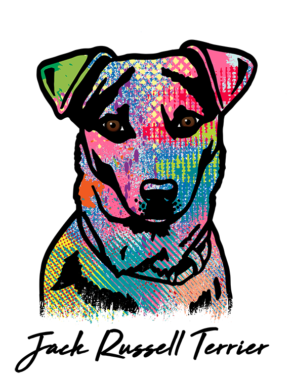 Jack Russell Terrier T Shirt Colorful Abstract