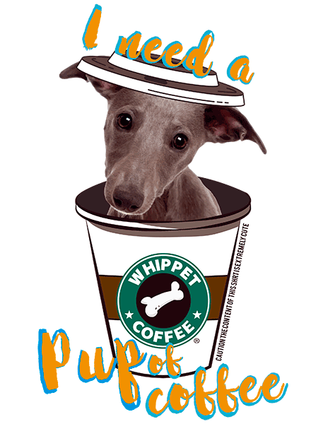 Whippet T Shirt - Coffee Mug