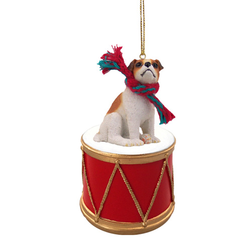 Little Drummer Jack Russell Terrier Christmas Ornament