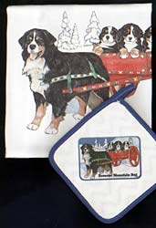 Bernese Mountain Dog Dish Towel & Potholder