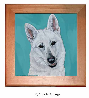 White German Shepherd Trivet
