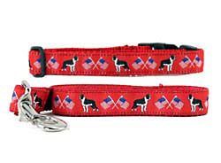 Boston Terrier Collar & Leash