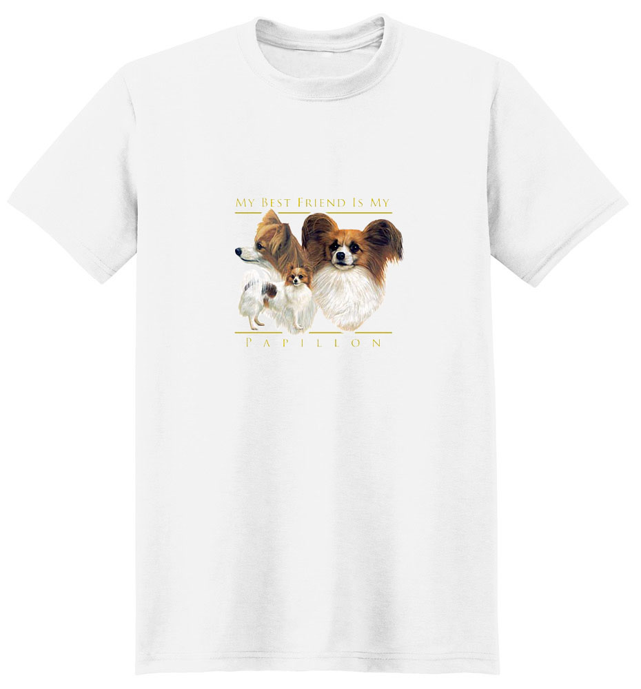 Papillon T-Shirt - My Best Friend Is